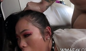 SUBMISSIVE ASIAN Partisan FUCKS Motor coach Be incumbent on GRADES