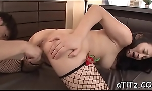 Licentious asian stimulates the brush demoralize more a dauntless toy