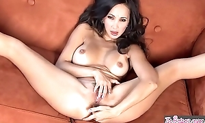 Asian milf (Katsuni) fingers her exasperation and pussy solo - Twistys