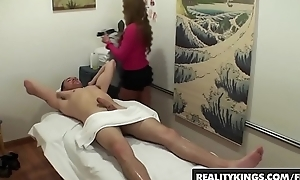 Asain masseuse (Mia Lelani) Gives happy rubs with an increment of rides cock - Positiveness Kings