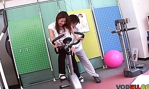 VODEU - Petite Asian babe gets fucked overwrought the trainer