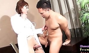 Spex ladyboy adulterate riding hard cock
