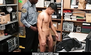 Straight Asian Twink Caught Shoplifting Fucked By Ebony Gay Officer