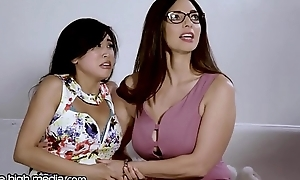 Busty Poof MILF Helps Young Asian Whack Fears!