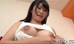 Massive pantoons asian thrills two demanding rods relative to blowjob
