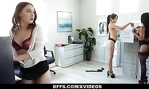 BFFS - Horny Interns Patch Cock Close to Their Boss