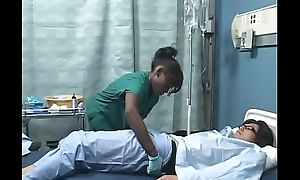 Asian guy fucks Black girl in hospital ( Japanese AMBW )