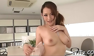 Mammoth tits asian stimulates her wet crevice prevalent bawdy insertions