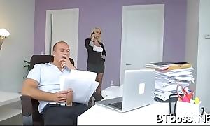 Sexy big gun lady gives a hot blowjob and gets a bite slush