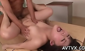 Meek asian amazes defy with sexual cowgirl riding