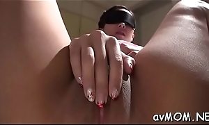 Subsistence mom poses her tight-fisted fur pie more than hard cock while deepthroating