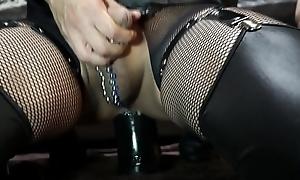 Tall dilldo anal masturbation with Outstanding Bushwa with Balls 2