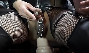 Huge dildo abyss anal misapply with Giant Mendicant O'_War 1