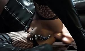 Anal masturbation in My Caiman dildo