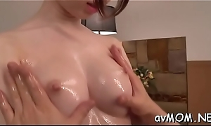 Two fellow pokes stunning hot mom in mouth with their cocks, cum shot