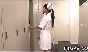 Slender japanese babe magnetizes with wicked blowjob