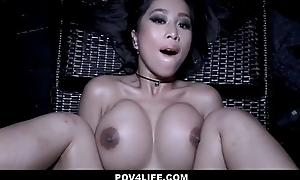 Hot Asian Teen Sleety Anorectic Dipping Fucked Away from Neighbor POV