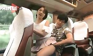Korean-sex on touching bus