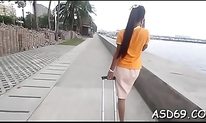 Nasty asian doxy in a hot act