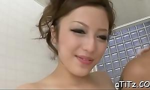 Vigorous japanese knocker fuck