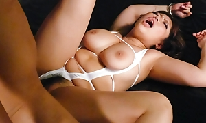 Neiro Suzuka takes yoke cocks in her mouth, pussy and motivation her big boobs