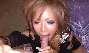 Riku Hinano has will not hear of big nipples eaten and will not hear of pussy banged
