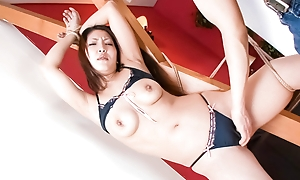 Japanese pricey Saya does a jolting dance go off at a tangent drives her guy to tie her back coupled with tease her