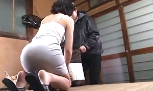 Japanese mature gets brimming fro a dick