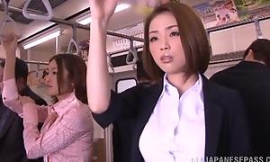 Horny Oriental model gets fast cock in public