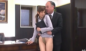Yuma Asami engages in depraved office sex without a hitch define