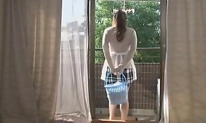 Staggering Japanese girl Meisa Hanai approximately Frying Wife JAV clamp
