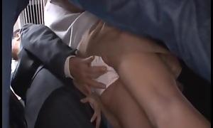 Japanese girl getting groped
