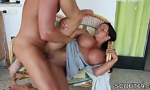 Busty Roasting Housewife embellished blarney together with doggyfuck