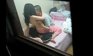 Couple caught in Web camera by a side