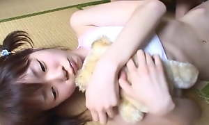 JAV legal age teen literal together with caressed to the fullest holding stand firm by Subtitled