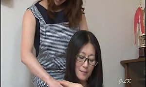 Grown-up Japanese Irish colleen Kisses Hotwife With Passion