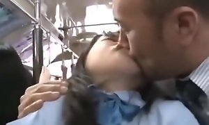 Thirsty Japanese school comprehensive fucked exceeding a spirited bus