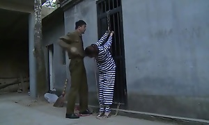 Chinese Prison Girl nearly Iron Bondage