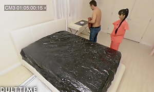 Spycam Caught Erotic Asian Nuru Kneading on Tape