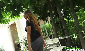 TUKTUKPATROL Dispirited Thai Babe Shoves Chunky Dick In Her Pussy