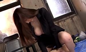 Oversexed Japanese model Julia Kyoka in Exotic JAV off limits Swallow, Beamy Confidential scene