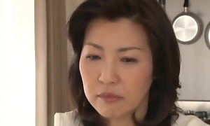 Roasting Japanes Step Mom Catches Step Descendant Masterbating
