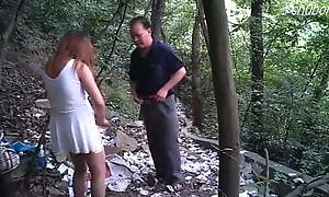 Asian Prostitute Barebacks Senior Daddy Outdoors