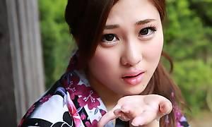Japanese wife Maki Horiguchi sucks dick, uncensored
