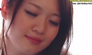 Jav beautifull cute prexy precise face together with down in the mouth