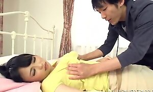 Busty Japanese Mummy Pleases A Dude Approximately A Breath-Taking Titj