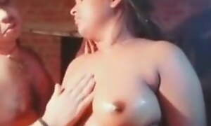 Indian husband plays with nude wife
