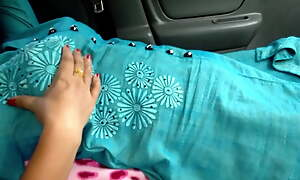 My mom Fucked in Car by uncle, risky public sex
