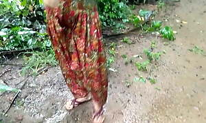 Sister Outdoor Pissing and getting Fucked In the Farm Bathroom by Daddy