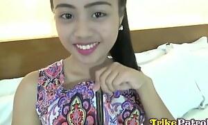 Tiny Teenage Filipina Elaine Gets Her Little Pussy Slammed